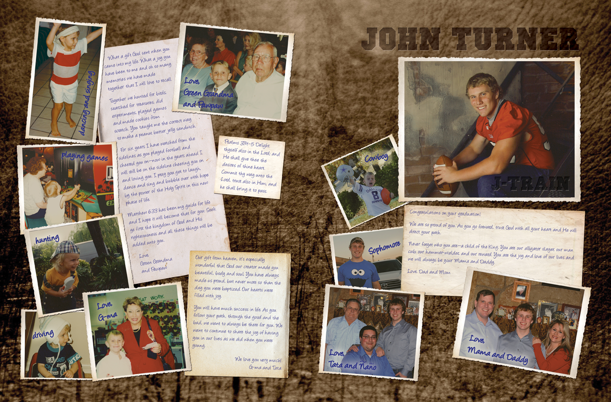 Yearbook Senior Ad Pages In The